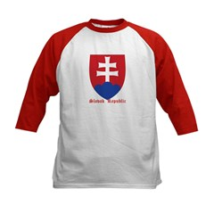 Slovak Republic Kids Baseball Jersey