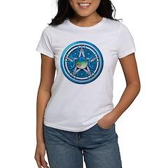 Blue Triple Goddess Pentacle Women's T-Shirt