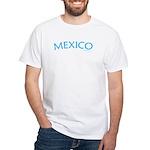 Mexico (Aqua) - White T-Shirt