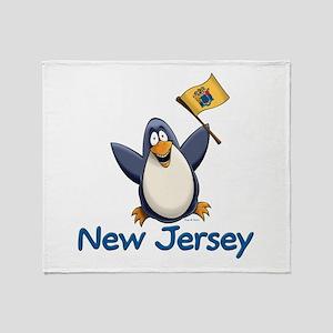 New Jersey Penguin Throw Blanket