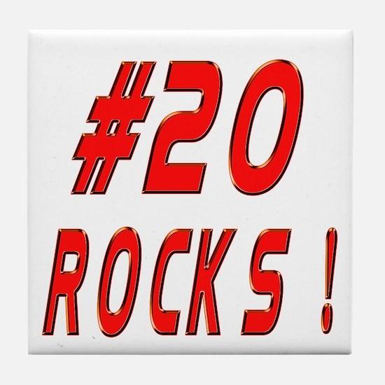 20 Rocks ! Tile Coaster