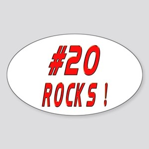 20 Rocks ! Oval Sticker