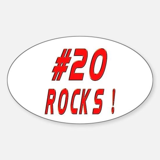 20 Rocks ! Oval Decal