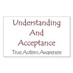 Autism Awareness Rectangle Sticker
