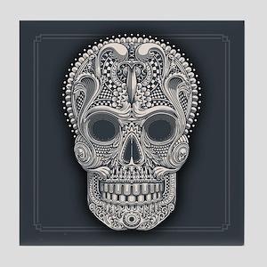 Victorian Sugar Skull Tile Coaster