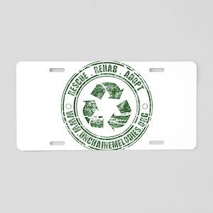 Rescue. Rehab. Adopt. Aluminum License Plate