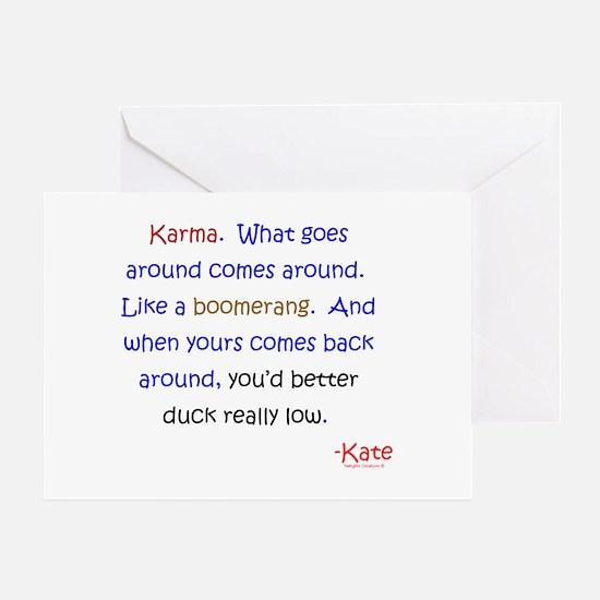 Kate's Karma Greeting Card