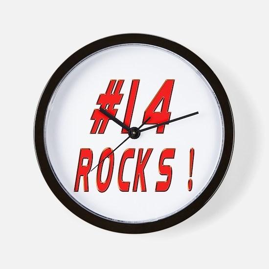 14 Rocks ! Wall Clock