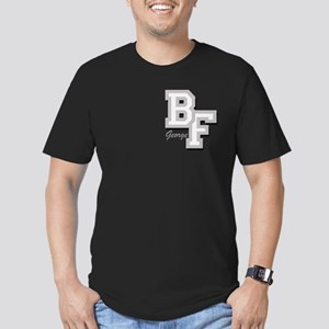 BF Varsity Letter Men's Fitted T-Shirt (dark)