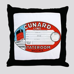 Cunard luggage tag Throw Pillow