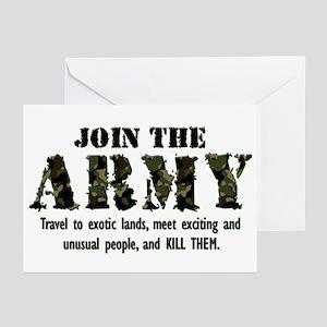 Army Military Fun Stuffs Greeting Cards Cafepress