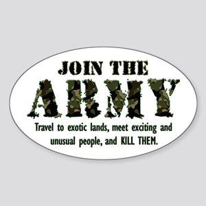 Join the Army Oval Sticker
