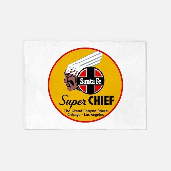 Santa Fe Super Chief1 5'x7'Area Rug