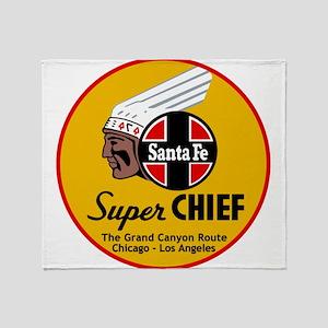 Santa Fe Super Chief1 Throw Blanket