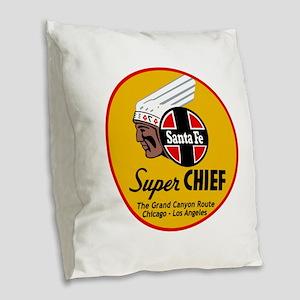 Santa Fe Super Chief1 Burlap Throw Pillow