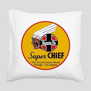 Santa Fe Super Chief1 Square Canvas Pillow