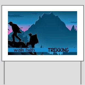 Trekking Yard Sign