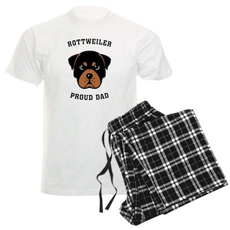 Rottweiler Proud Dad Men's Light Pajamas