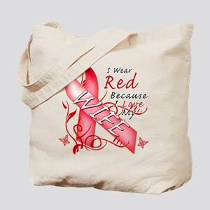 I Wear Red Because I Love My Wife Tote Bag