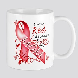 I Wear Red Because I Love My Mom Mug