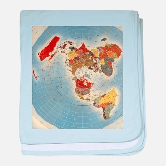 Flat Earth Map FOTA WW2 baby blanket