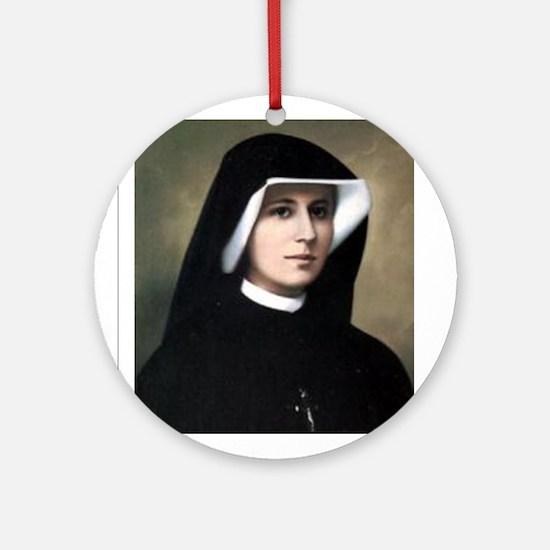 Saint Faustina Ornament (Round)