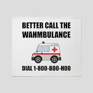 Wahmbulance Boo Hoo Throw Blanket