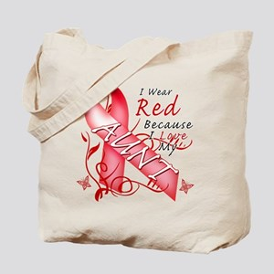 I Wear Red Because I Love My Aunt Tote Bag