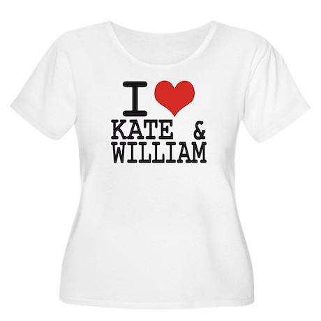 I LOVE KATE and WILLIAM Women's Plus Size Scoop Ne