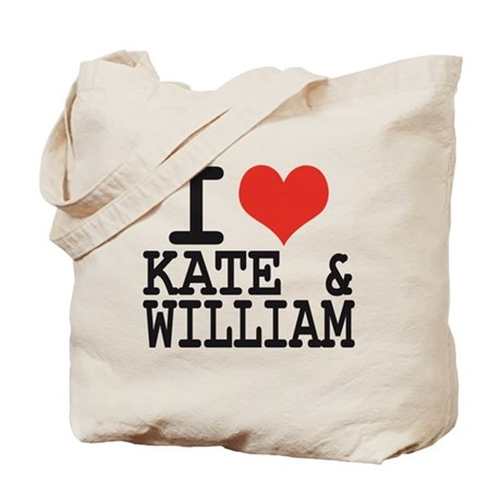 I LOVE KATE and WILLIAM Tote Bag