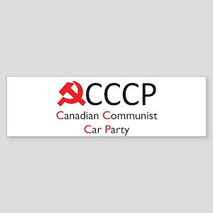 CCCP - Canadian Communist Car Sticker (Bumper)