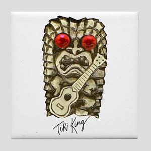 Ukulele Playing Tiki Tile Coaster