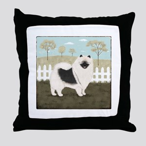 Country Keeshond Throw Pillow