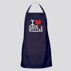 I LOVE KATE and WILLIAM Apron (dark)