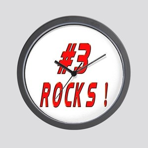 3 Rocks ! Wall Clock