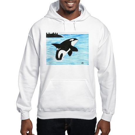 Breaching Orca Hooded Sweatshirt