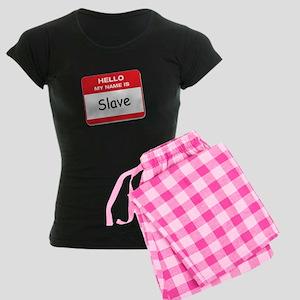 Hello My Name is Slave Women's Dark Pajamas