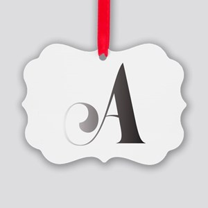 Monochromatic A Scroll Monogram Ornament