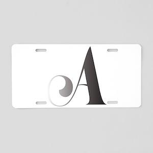 Monochromatic A Scroll Monogram Aluminum License P