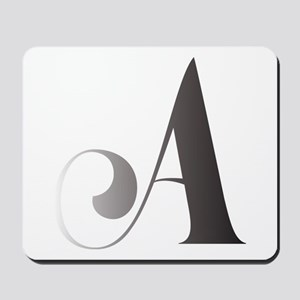Monochromatic A Scroll Monogram Mousepad