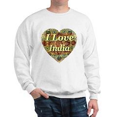 I Love India Oriental Heart Sweatshirt