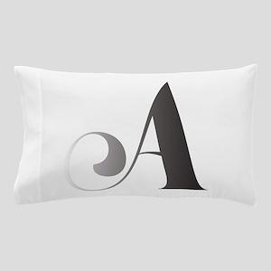 Monochromatic A Scroll Monogram Pillow Case