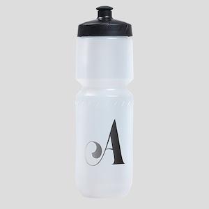 Monochromatic A Scroll Monogram Sports Bottle