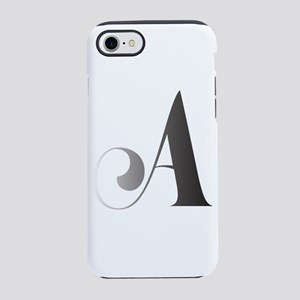 Monochromatic A Scroll Monogram iPhone 7 Tough Cas