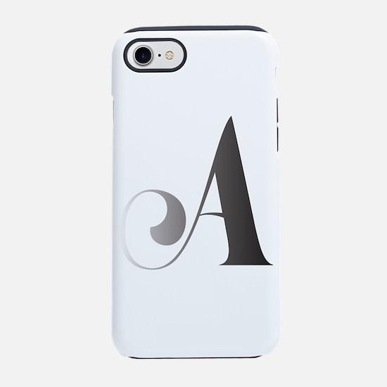 Monochromatic A Scroll Monogram iPhone 7 Tough Cas