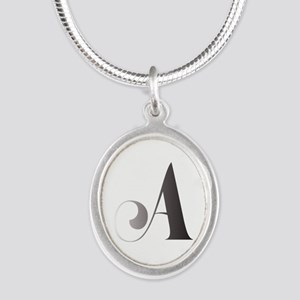 Monochromatic A Scroll Monogram Necklaces