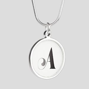 Monochromatic A Scroll Monogram Necklaces