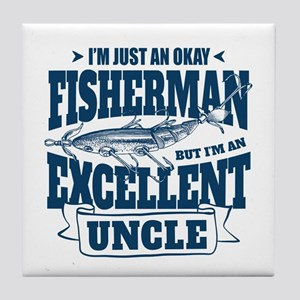 Fishing Uncle Tile Coaster