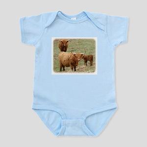 Highland Cattle 9Y316D-017 Infant Bodysuit
