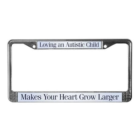 Growing Heart License Plate Frame by rosierockets